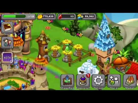 How to breed double rainbow dragon and peridot dragon in DragonVale 100% real