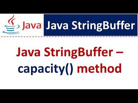 Java Tutorial : Java StringBuffer [capacity() method]