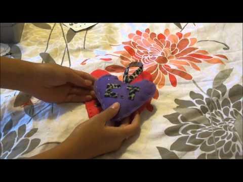 Felt Creations: Hanging Heart door sign ♡