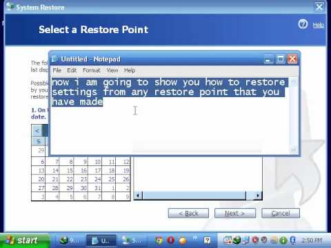 How to make backup in windows xp and restore from that backup