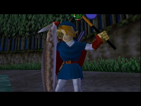 How To Catch the Hyrule Loach Without Sinking Lure - Zelda Ocarina of Time Fishing Guide