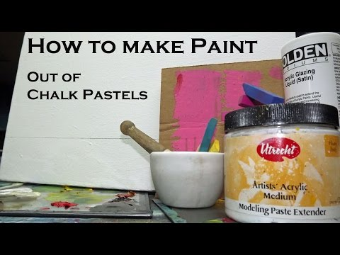 Making Paint Out Of Pastels