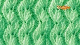 Cómo Tejer Flores Orientales - 2 Agujas ( 553)