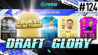 LOWEST REACTIONS DRAFT! - FIFA20 - ULTIMATE TEAM DRAFT TO GLORY #124