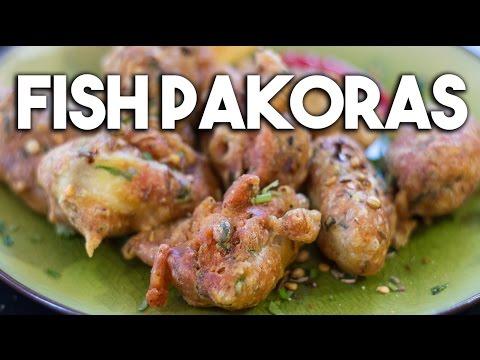 Fish Pakoras - Crispy batter fried Tilapia
