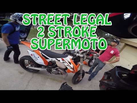 First ride: street legal 2 Stroke Supermoto!