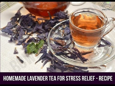 How to make lavender tea using dried lavender blossoms - Recipe
