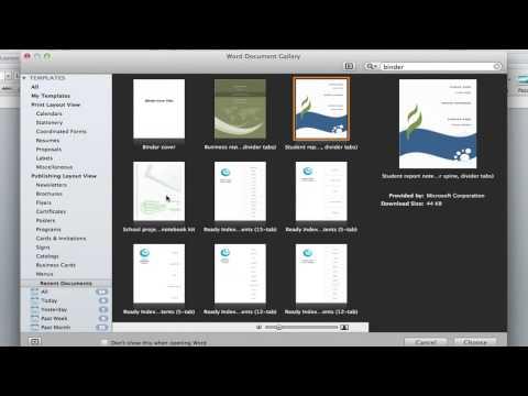 How to Create Binder Inserts in Microsoft Word : Microsoft Word Help