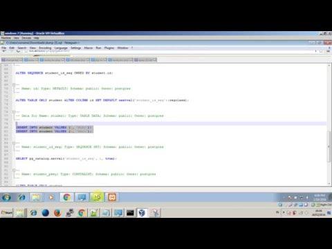 Phppgadmin problem - empty SQL dump after export
