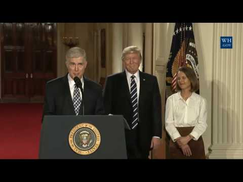 President Donald Trump Announces Supreme Court of the United States Judge Neil Gorsuch  FULL