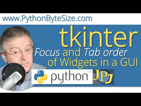 Focus and Tab order of Widgets in a Python GUI