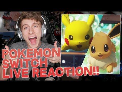 LIVE REACTION | POKEMON LET'S GO PICKACHU & LET'S GO EEVEE TRAILER REACTION! POKEMON SWITCH REACTION
