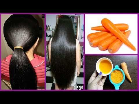 Grow Long and thicken Hair Naturally and Faster with Carrot-Grow hair 1 inch in 10 days