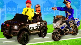 Kids Pretend Play with Police Cars & Bikes | Stories with Toys