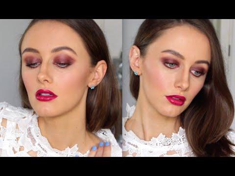 Deep Burgundy Eyes | Pinkberry Lip