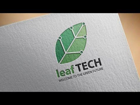 leaf Logo Design Process, Shutter-stock logo , Costume logo design