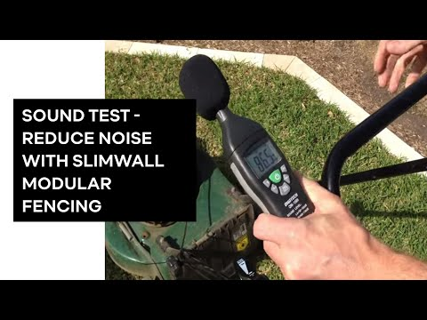 SlimWall Designer Boundary Fences - Real Life Acoustic/Sound/Noise reduction test