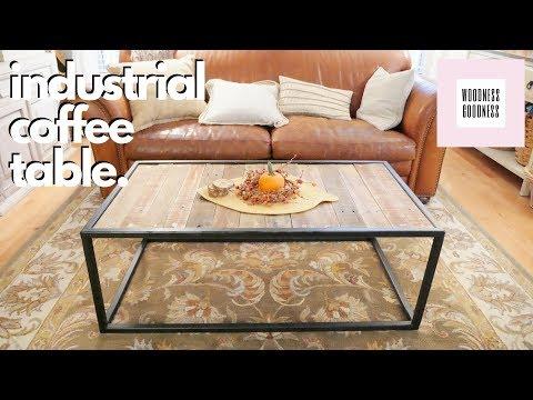 DIY Steel & Pallet Coffee Table