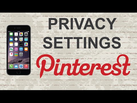 Change Pinterest Privacy Settings | Mobile App (Android / Iphone)