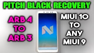 PitchBlack Recovery Features Redmi NOTE 5 PRO | MIUI OTA