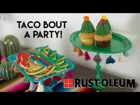 Cinco de Mayo Party Cake Stand DIY