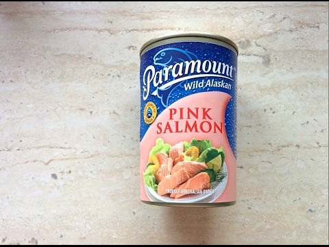 Salmon Salad&Beans!Quick Salad.PinkPeonyEdyta