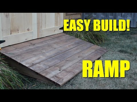 Ramp For My Shed!