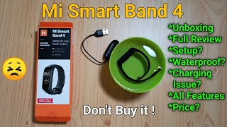 Mi Smart Band 4 Unboxing, Full Review, Setup, Charging Issue, Waterproof Test, All Features, Price