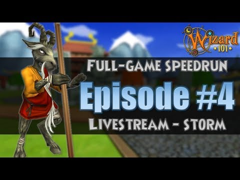 [Wizard101] Full-Game Speedrun Livestream Episode 4 - Storm (Double Gardening Harvest at the End)
