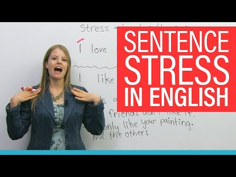 How SENTENCE STRESS changes meaning in English
