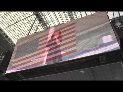 Rhema Marvanne - Dallas Cowboys Stadium - National Anthem - plz