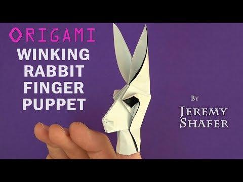 Winking Rabbit Finger Puppet
