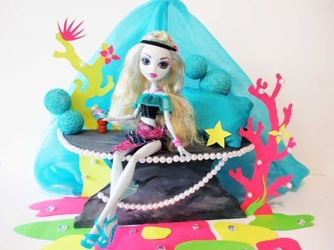 How to make a Lagoona Blue doll bed Tutorial/ Monster High