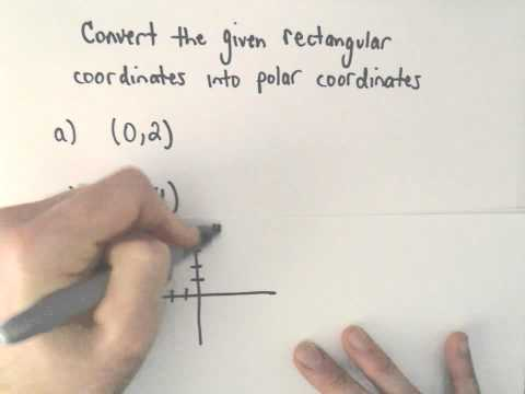 Converting Between Polar and Rectangular (Cartesian) Coordinates, Ex 1