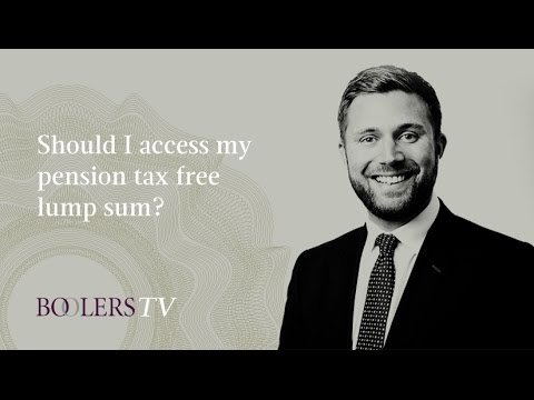 Should I access my pension tax free lump sum?