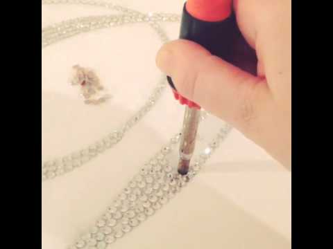 Customized Wedding Creations Crystal Aisle Runner Process