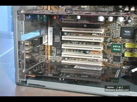 Section 2 - Lesson 3:  Installing a PCI Card Wireless Network Adapter