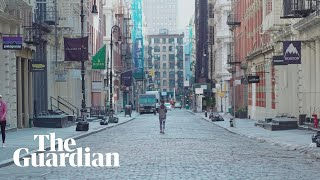 New York City under covid-19 quarantine: quiet streets and closed stores