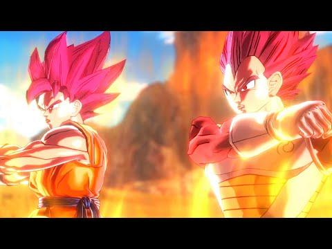 Super Saiyan God Goku and Super Saiyan God Vegeta Fusion!(DBXV Mod)