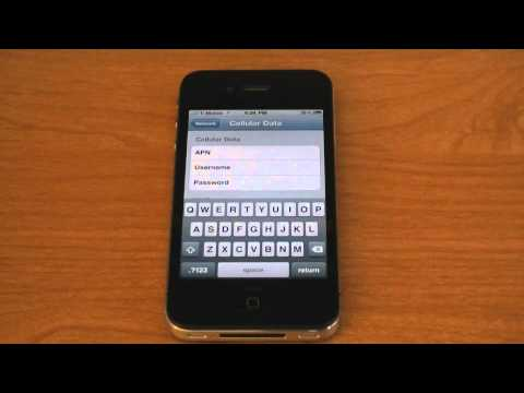 How To Configure T-Mobile EDGE Internet Settings on 4.0 - iPhone 4