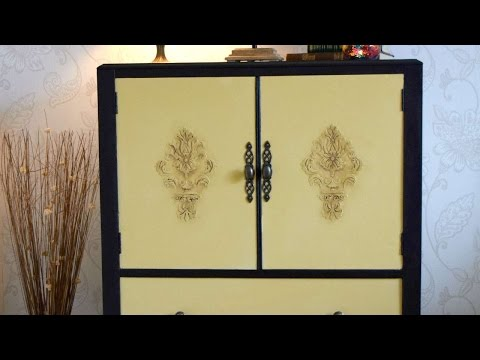 How To Create Raised Stencil On Furniture - DIY Crafts Tutorial - Guidecentral