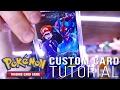 Download  How to Make a CUSTOM Pokemon Card!! + FULL ART Ash-Greninja EX MP3,3GP,MP4