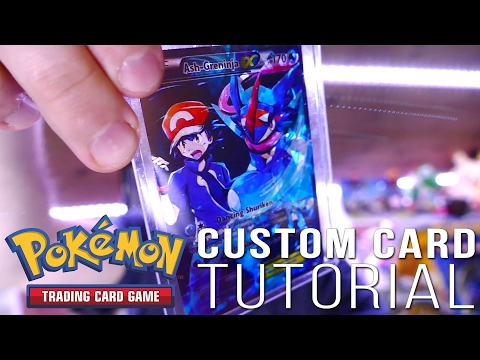 How to Make a CUSTOM Pokemon Card!! + FULL ART Ash-Greninja EX