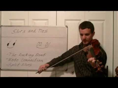 Violin Lessons in Music Theory- Slurs and Ties in Music