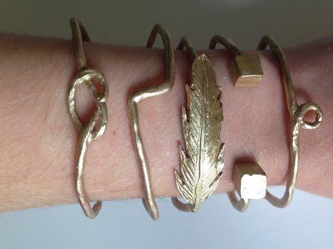 Tuto fimo bracelets en or