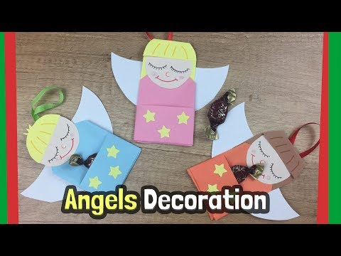 DIY for Christmas tree decoration | Little angels craft with candies, easy to do with kids