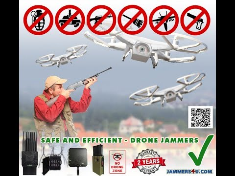 Handheld portable Drone Quadcopter Jammer Demo test CT-1040H-DJ