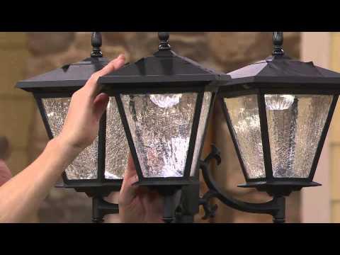 Fieldsmith Solarpowered Lamp Post Light With Planter Base Solar