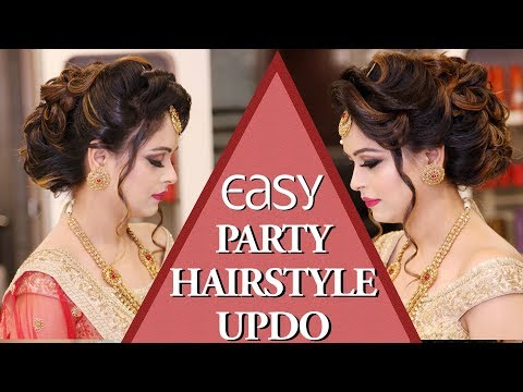 Easy Party Hairstyle BUN With Curls Tutorial Video | Party Hairstyle BUN Updo | Krushhh by Konica
