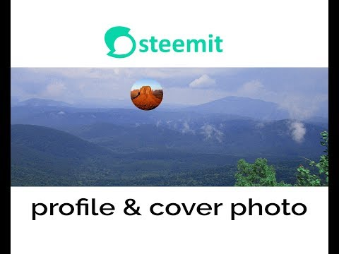 How to change steemit profile and cover picture